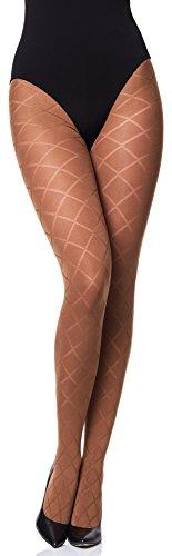Merry Style Damen blickdichte Strumpfhose MS 328 60 DEN(Cappucino, L (40-44))