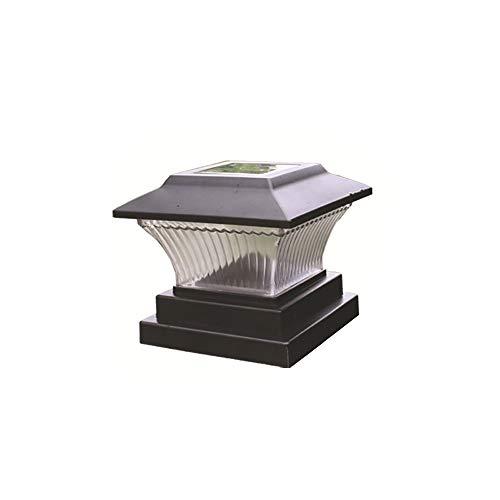JWWS Solar LED Pfostenkappe Licht, Modern wasserdichte Säule Laterne Lampe Pfosten Kappen Licht, Gartenleuchten Außenleuchte, Außen Sockelleuchte, Zaunleuchte Wegeleuchte, Für Patio,Warm Light