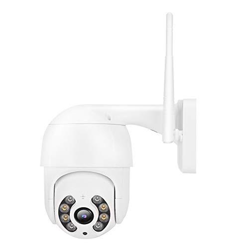 LZKW Cámara IP inalámbrica con WiFi, Imagen de Escucha en Tiempo Real Cámara IP de Seguridad al Aire Libre, 8 Luces a(European regulations)