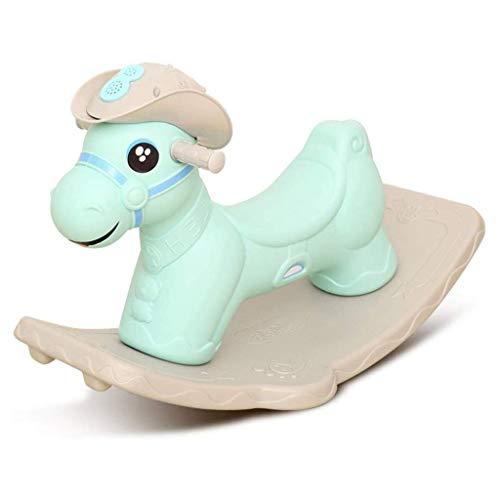 SCDXJ Enfants Rocking Horse, garçons et Filles Rocking Toy Cadeau avec coloré lumières Parfait for 3 Ans et Plus (Color : A)
