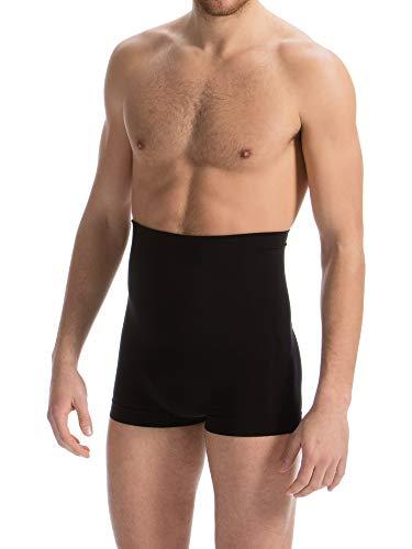 FarmaCell Man 402S (Schwarz, XL) Herren-Boxershorts figurformend mit dehnbarem Band und Stützstäben im Rückenbereich die EIN Aufrollen verhindern