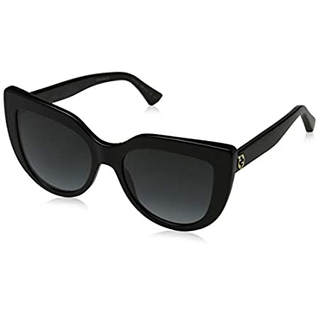 Fashion Shopping Gucci sunglasses (GG-0164-S 001) Shiny Black – Grey Gradient lenses, 53-18-145