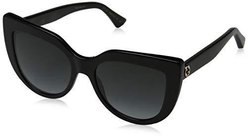 Gucci GG0164S 001 Gafas de sol, Negro (1/Grey), 53 para Mujer