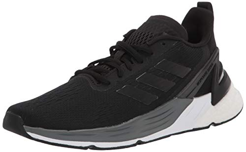 adidas Women's Response Super Running Shoe, Black/Black/White, 8