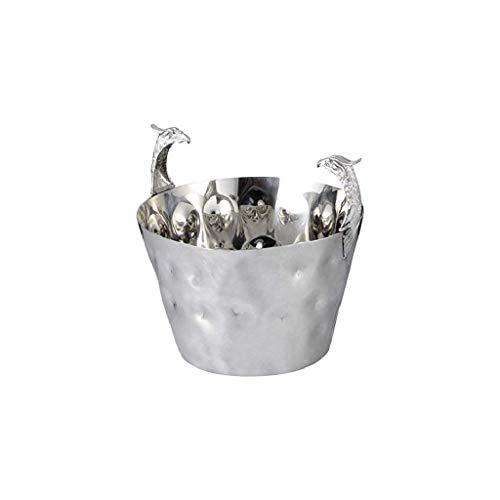Cubo de hielo de metal - Grifo de acero inoxidable Punto de martillo Punto de hielo portátil para fiestas, para vino, cócteles y bebidas de jardín Más fresco