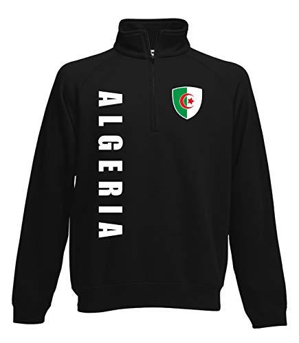Aprom Algerien Zip Sweater Pullover Trikot Look Neck Fussball Sport SPA (S)
