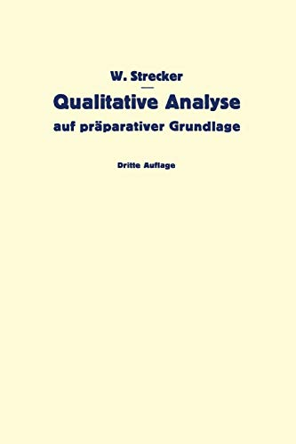 Qualitative Analyse auf präparativer Grundlage
