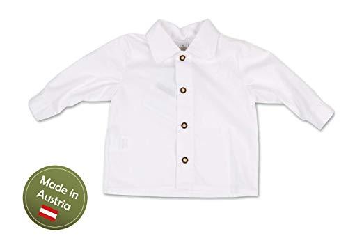 Trachten Hemd Buben Weiß Gr.92-128 Baby Kinder Trachtenhemd