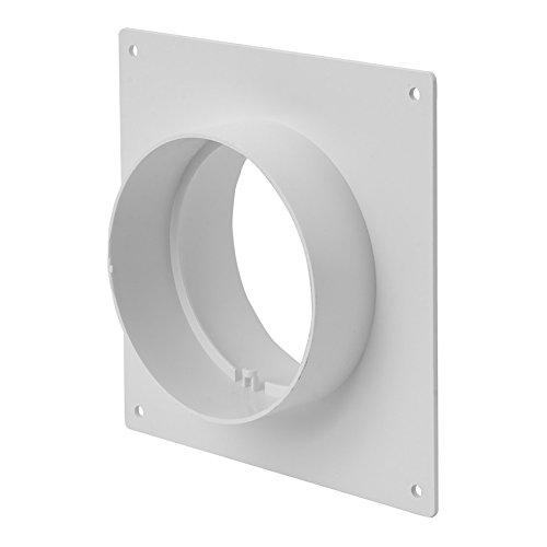 Ø125 mm wandflens pijpverbinder - verbindingsstuk ronde buis ventilatiebuis