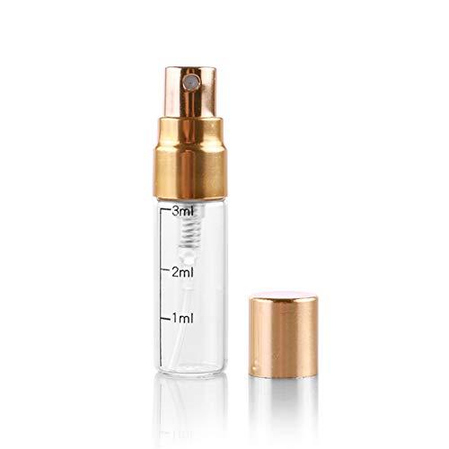 jingxiaopu Bote Pulverizador Botella De Perfume PortáTil Pulverizador Agua A Prueba De Fugas Botella De Viaje Recargable para LocióN De Maquillaje Perfume Gold