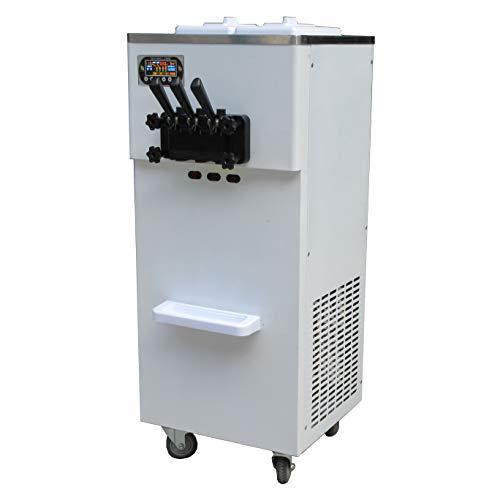 Eismaschine mit 3 Geschmacksrichtungen, 2 + 1 gemischte Geschmacksrichtungen weiche Eismaschine mit automatischer Vorkühlung, Zählfunktion mit kompletter Kältemittel