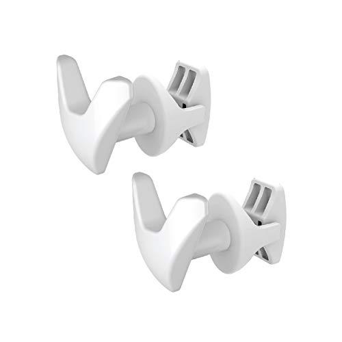 Paire de Handy Vip Tubes Ronds - Patères, Se fixe directement sur le radiateur sèche-serviettes - Blanc