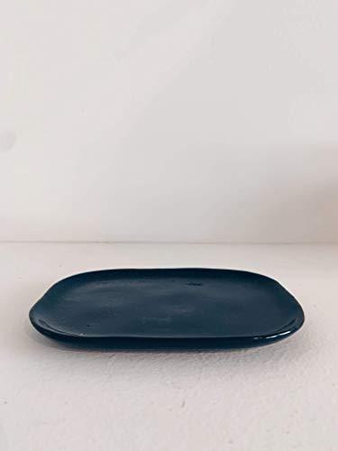 MERCI N°3 Assiette Bleu foncé - L 14.5 cm