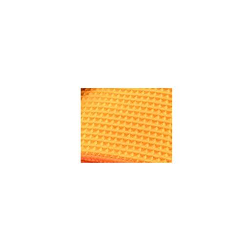 Practical 2 piezas de lavado de coches Toalla de lavado de vidrio Limpieza de agua secado Microfibra Ventana Limpiar limpieza automático Detalle de Waffle Weave para baño de cocina 40 * 40 cm Convenie