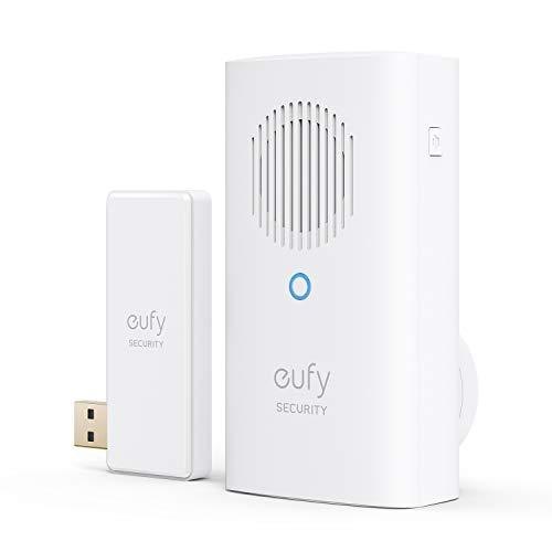 eufy Security Glockenspiel für Video-Türklingel, zusätzliche Glocke, benötigt akkubetriebene 2K eufy Video-Türklingel, für gleichzeitiges Klingeln, einstellbare Lautstärke, Kompatibel mit Station 2