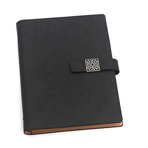 LICHUAN Cuaderno de 80 hojas en espiral, de hojas sueltas, A5, cuaderno de notas de escritura de tapa dura (color: C)