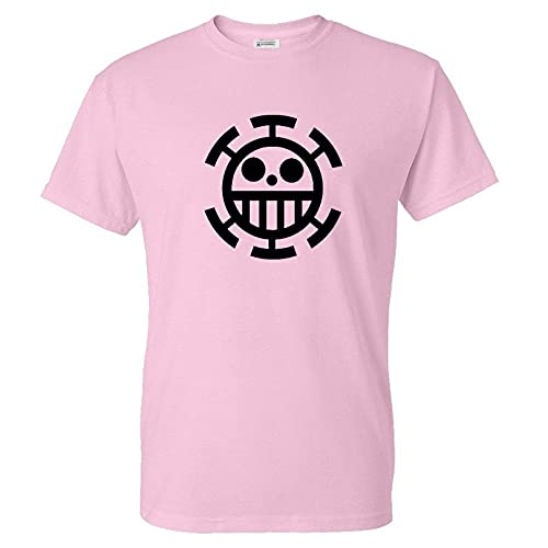 CLJKJDS Una Pieza Impresa Camiseta Hombres Mujeres Primavera Verano Trendy Streetwear T Shirt Algodón Camiseta Unisex (Color : Pink 02, Size : S)