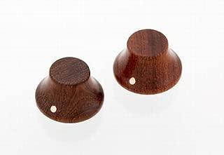 2 Bubinga Wood Bell Knobs Push-On