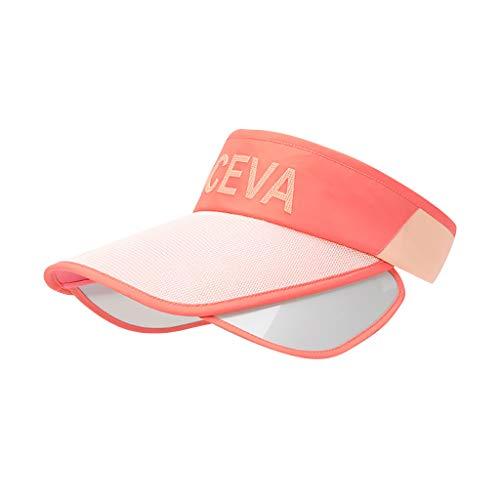 Yowablo Frauen Sonnenhut Hüte Große Breite Klappe Sommer UV-Schutz Strandkappe Floppy Sonnenhut (1Stck,Orange)