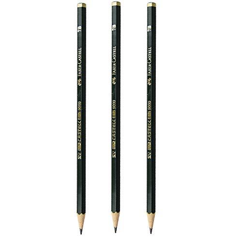 ファーバーカステル FABER-CASTELL 鉛筆 3本セット美術用 9000シリーズ 7B