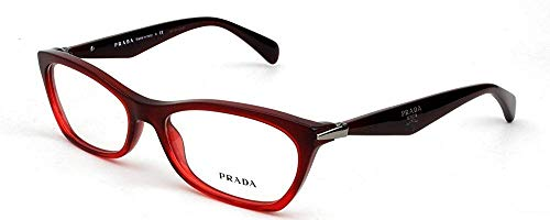 Prada - PRADA PR 15PV, Schmetterling, Acetat, Damenbrillen, BURGUNDY SHADED RED(MAX-1O1), 53/16/135