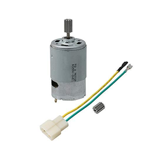 BQLZR 550 18000 U/min 10T Rundschaft Hochleistungs-Drehmoment 6 Volt Elektromotor für DIY-Elektroprojekte Kinderauto-Reparaturteile