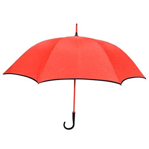 Paraguas Compacto y Resistente al Viento, Paraguas con Apertura Automática, Paraguas con Varillas Reforzadas y Mango Curvado Antideslizante y Cómodo