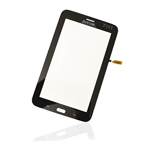 Cristal para pantalla Samsung Galaxy Tab 3 SM-T111 7.0 LTE frente de cristal digitalizador de pantalla táctil Tablet disco negro incluso se pega