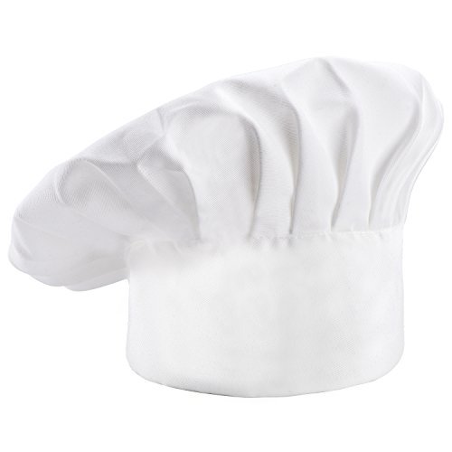 FULiYEAR Chef Hat Adjustable Elastic Kitchen Cooking Working Chef Cap for Adult Womens Mens (1 Pcs)