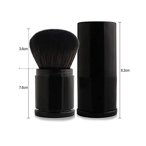 DOGKLDSF Retractable Foundation Brush, Brosse de Maquillage de Brosse Fard à Joues en Poudre Professionnel, Brosse rétractable pour Voyage, Fard à Joues bronzante, Le mélange de contournage