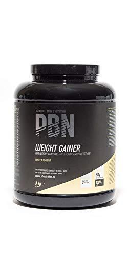 Marca Amazon - Amfit Nutrition Gainer Blend Sabor Vainilla, 3kg (anteriormente PBN)