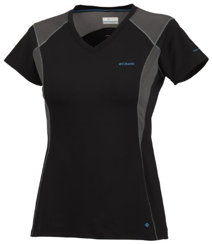 Columbia Insight Ice Short Sleeve V-Neck Top T-shirt manches courtes femme Noir XS