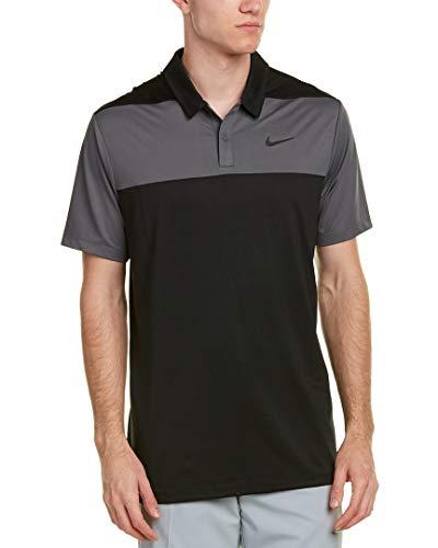 Nike Herren Poloshirt Dry, Black/Dark Grey/Flat Silver, S, 890670-010