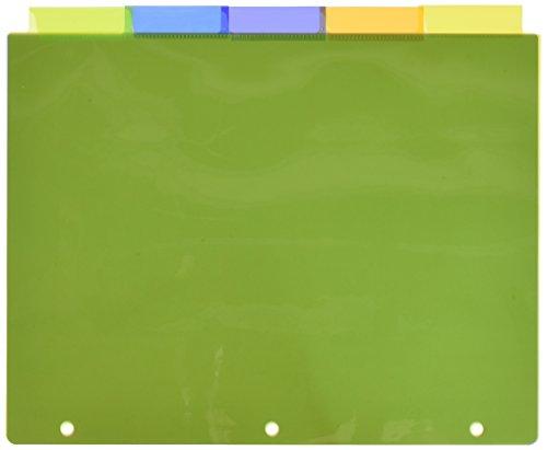 Avery 5-Tab Plastic Binder Dividers, Insertable Multicolor Big Tabs, 3 Sets (11900)