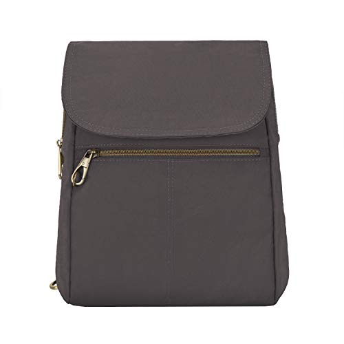 Travelon Anti-theft Signature Slim Backpack, Smoke