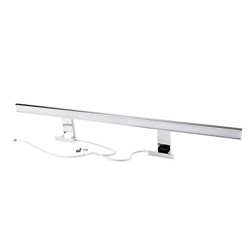 LED Spiegellampe LED Spiegelleuchte 13W Neutralweiß(4200K) 80cm Verchromt, 850lm, 80x2835SMDs, Badleuchte Schrankleuchte Wandlampe Wandleuchte CRI>80