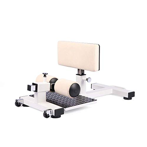 HB Healthybros  Sissy Squat Machine Leg Press Machine -Withstand 440Ib - Squat & Leg Exercise for Strong Quads & Glutes (Beige)