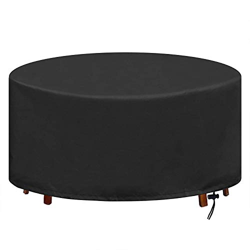 KDR Table Cover, Round Garden Furniture Covers Circular Patio Set Cover...