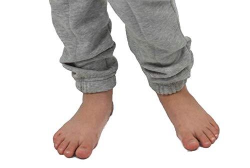 Gennadi Hoppe Kinder Jumpsuit Overall Jogger Trainingsanzug Mädchen Anzug Jungen Onesie,hell grau,7-8 Jahre - 4