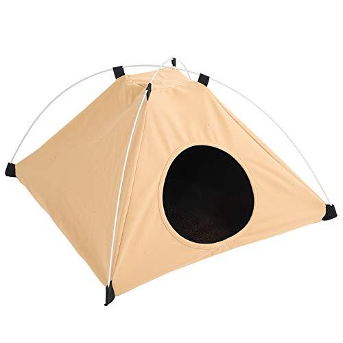 SALUTUYA Berber Fleece Made Cat Zelt für den Innen- und Außenbereich in Allen Jahreszeiten erhältlich(Khaki)