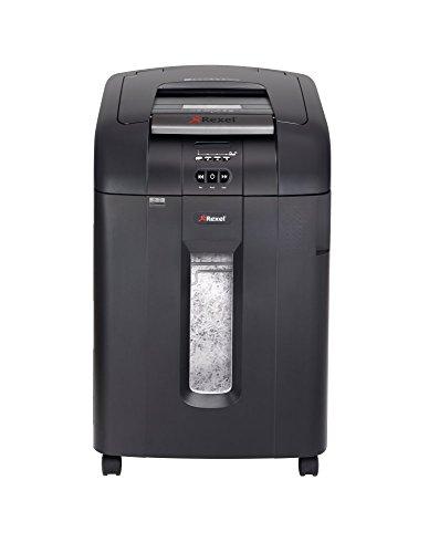 Rexel Auto+ 600X Aktenvernichter für den Einsatz in Abteilungen, Partikelschnitt, Autofeed, 80L Abfallbehälter, 600 Blatt Capacity, Schwarz, 2103500EUA