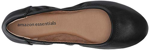 Amazon Essentials Women's Ballet Flat, Black, 6.5 B US
