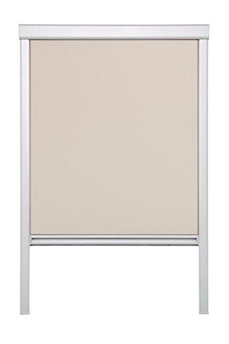 Lichtblick Dachfenster-Rollo Skylight, 61,3 x 100,0 cm (B x L) in Beige, 100% Verdunkelung, Thermo-Rollo für Velux-Fenster, Sonnen-, Hitze- & Sichtschutz (MK06)