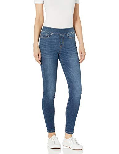 Amazon Essentials Women's Pull-on Denim Jegging, Medium Blue, 14 Long