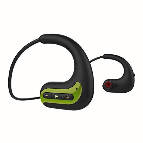 GTJXEY Deportes Auricular Inalámbrico Bluetooth, Usable Jugador MP3 Walkman Auriculares con Micrófono, Construido En La Tarjeta De 8GB TF De Almacenamiento De Memoria para Ejecutar La Gimnasia,B