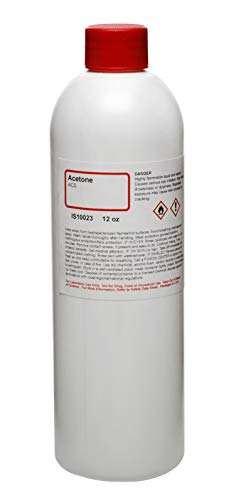 Acetone - Premium ACS Grade, 12oz - The Curated Chemical Collection