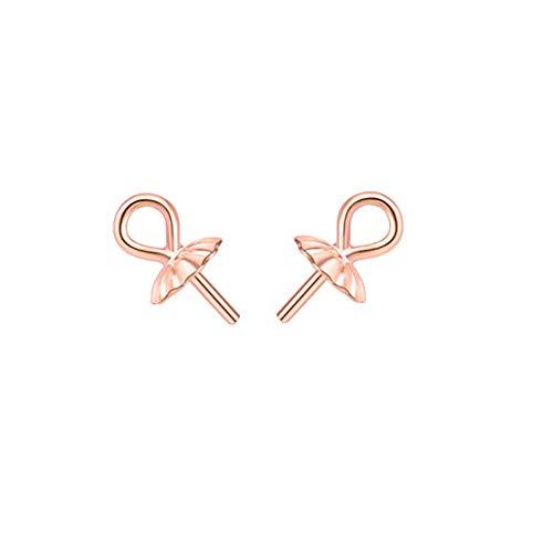 JIHUOO 10 piezas de plata de ojo pin de bola de perla colgante conector para joyería artesanal fabricación de oro rosa