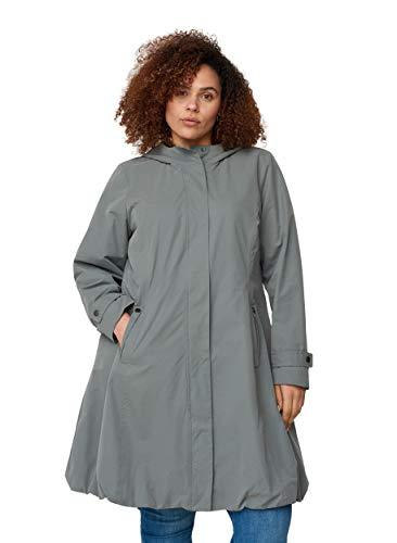 Zizzi Große Größen Damen Jacke mit Kapuze und Taschen Gr 42-44 Grün
