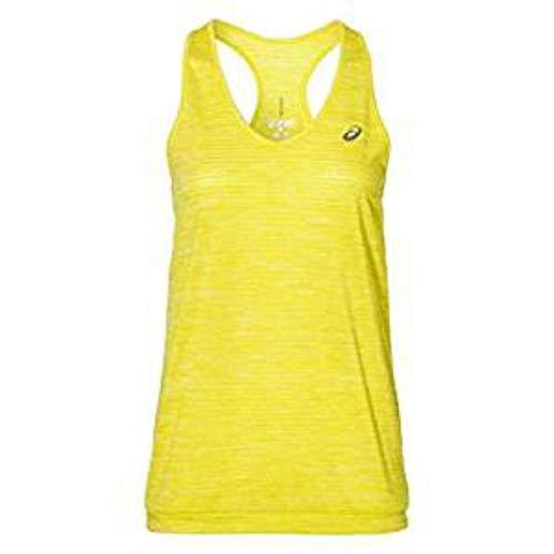 ASICS Fuzex Layering Tank Camiseta de Tirantes, Mujer, Amarillo (Blazing Yellow), S