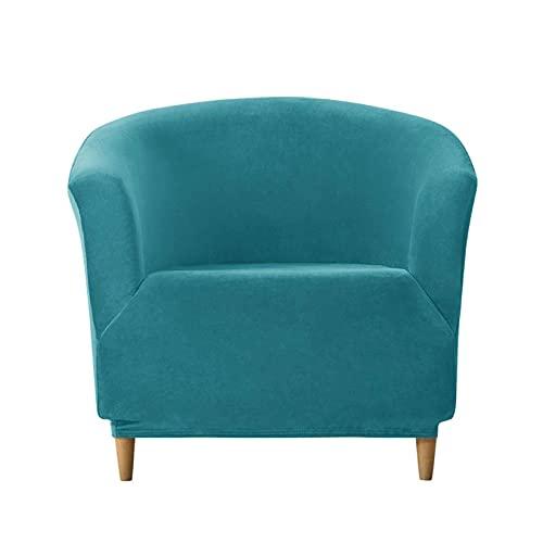 Terciopelo Funda De Silla Club,Universal Estirarse Todo Incluido Funda De Sofá Club-11#Azul Turquesa-Funda de sofá Club